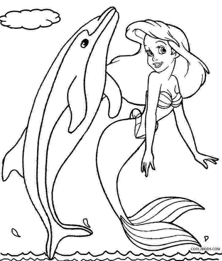 dolphin color pages printable mermaid coloring pages for kids cool2bkids dolphin color pages