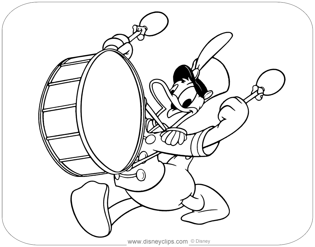 donald duck images for colouring donald duck coloring pages disneyclipscom duck for donald colouring images