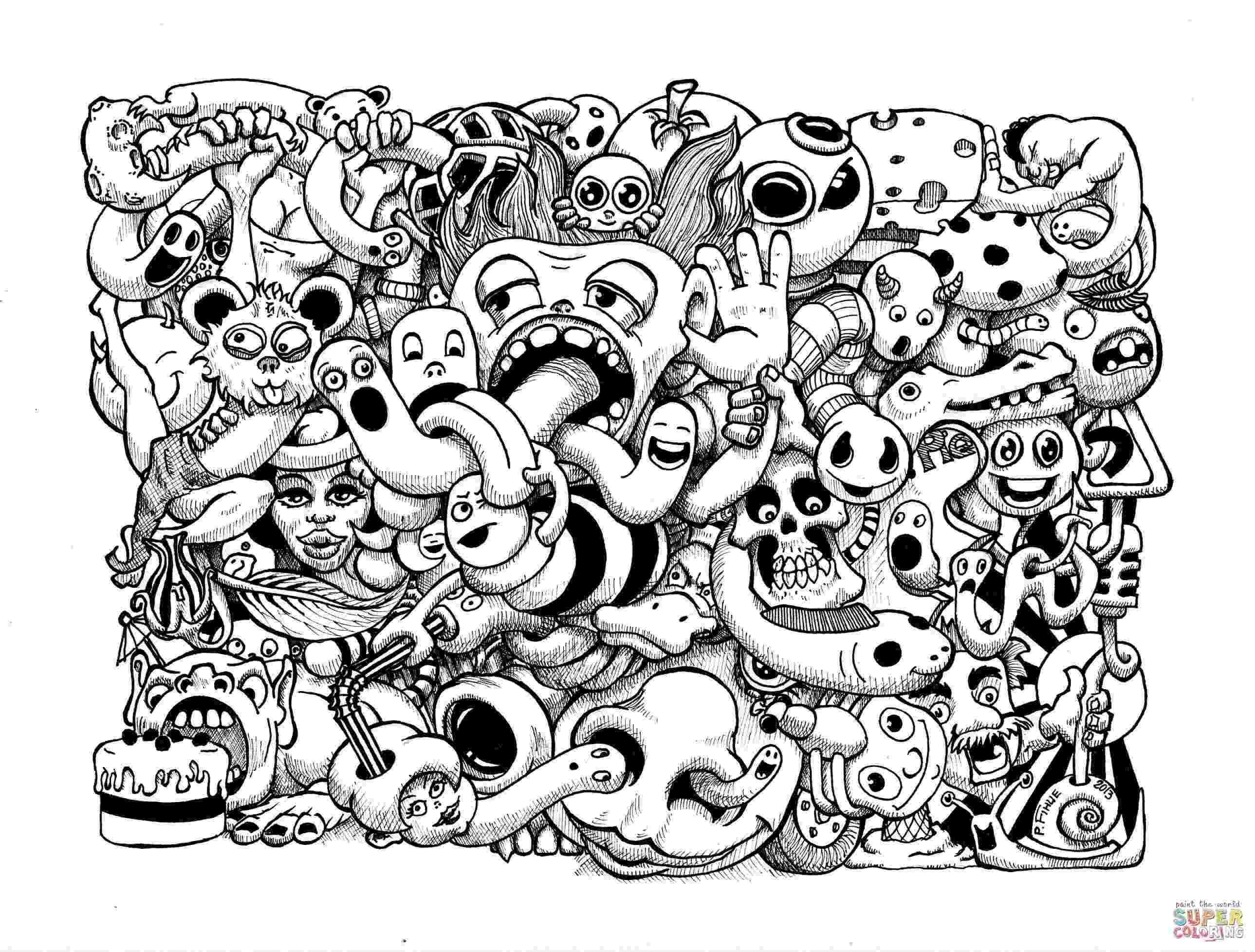 doodle art free printables doodle art to color for children doodle art kids doodle printables free art