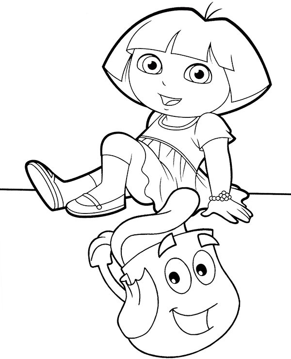 dora backpack coloring page dora coloring pages coloring pages to print coloring page dora backpack