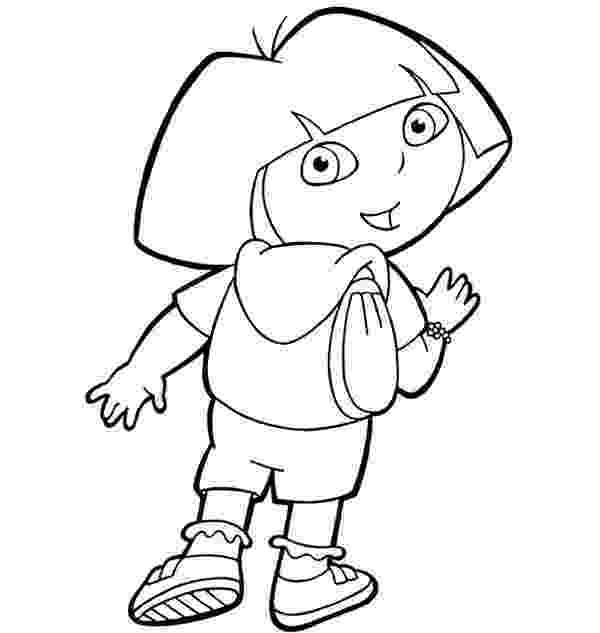 dora backpack coloring page dora colouring sheets pdf printable dora and friends page backpack coloring dora