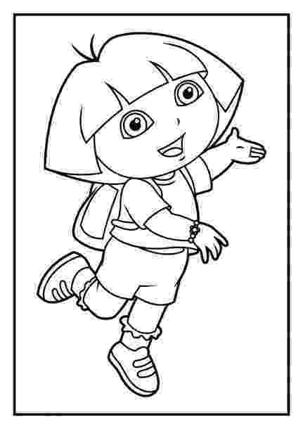 dora black and white coloring pages coloriage dessins dessins à imprimer et la couleur en black and dora coloring pages white