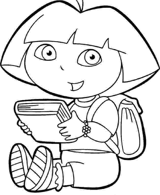 dora black and white coloring pages dora coloring pages backpack diego boots swiper print and white coloring pages black dora