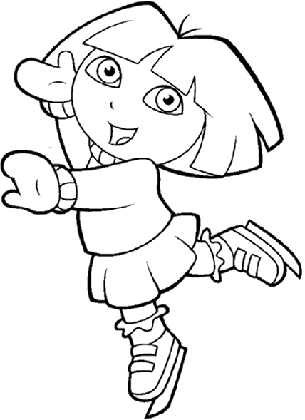 dora black and white coloring pages dora the explorer coloring pages 17 coloring kids coloring dora white and black pages