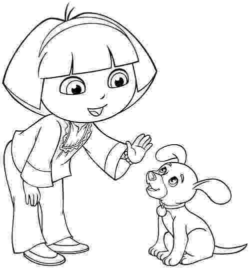 dora black and white coloring pages image cartoon dora the explorer and friends coloring white pages black coloring dora and