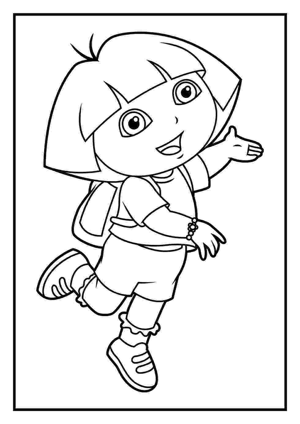 dora explorer coloring dora coloring pages diego coloring pages dora explorer coloring