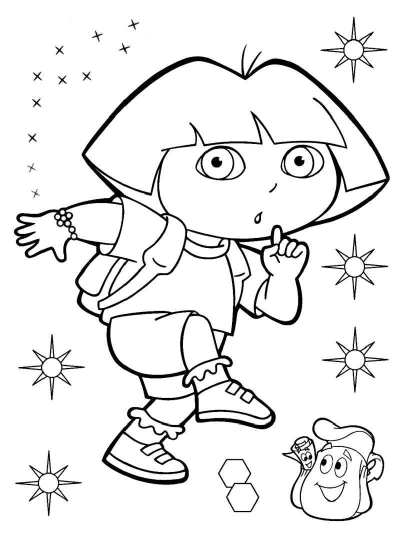 dora explorer coloring dora the explorer coloring pages coloring pages explorer dora coloring