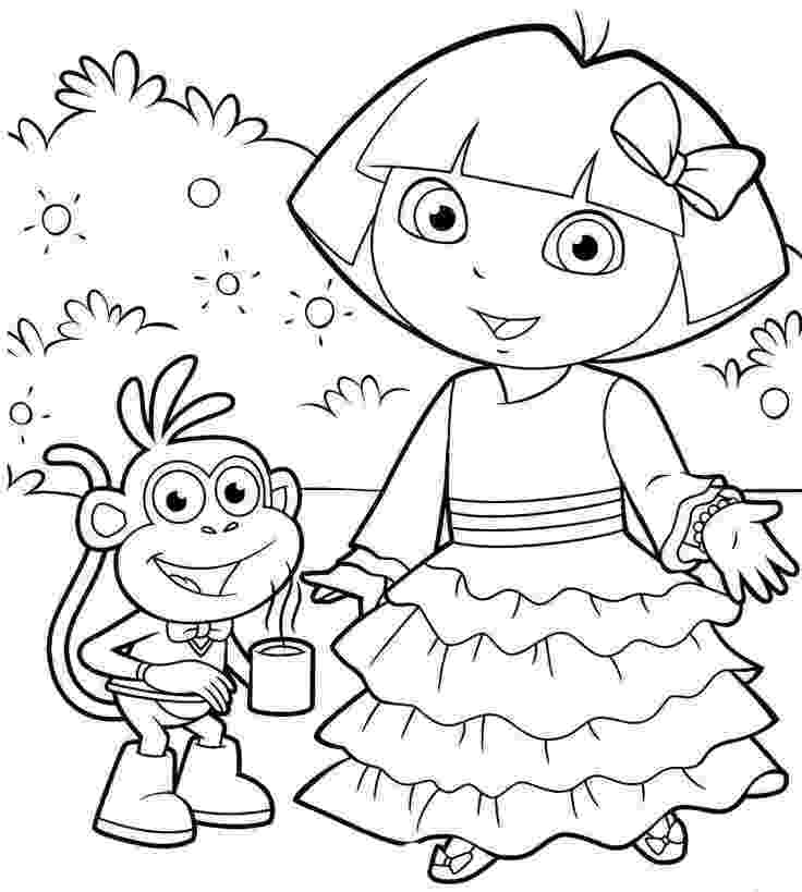 dora explorer coloring dora the explorer colouring learningenglish esl dora coloring explorer