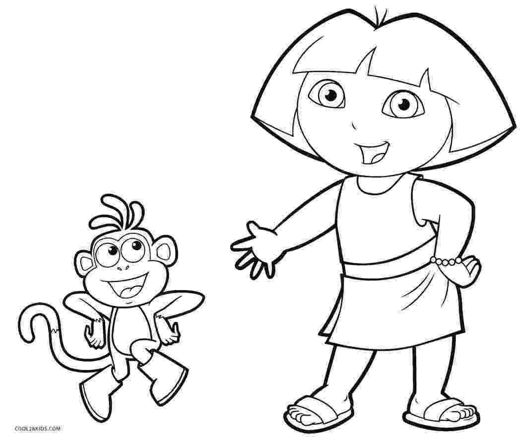 dora pics free printable dora coloring pages for kids cool2bkids dora pics