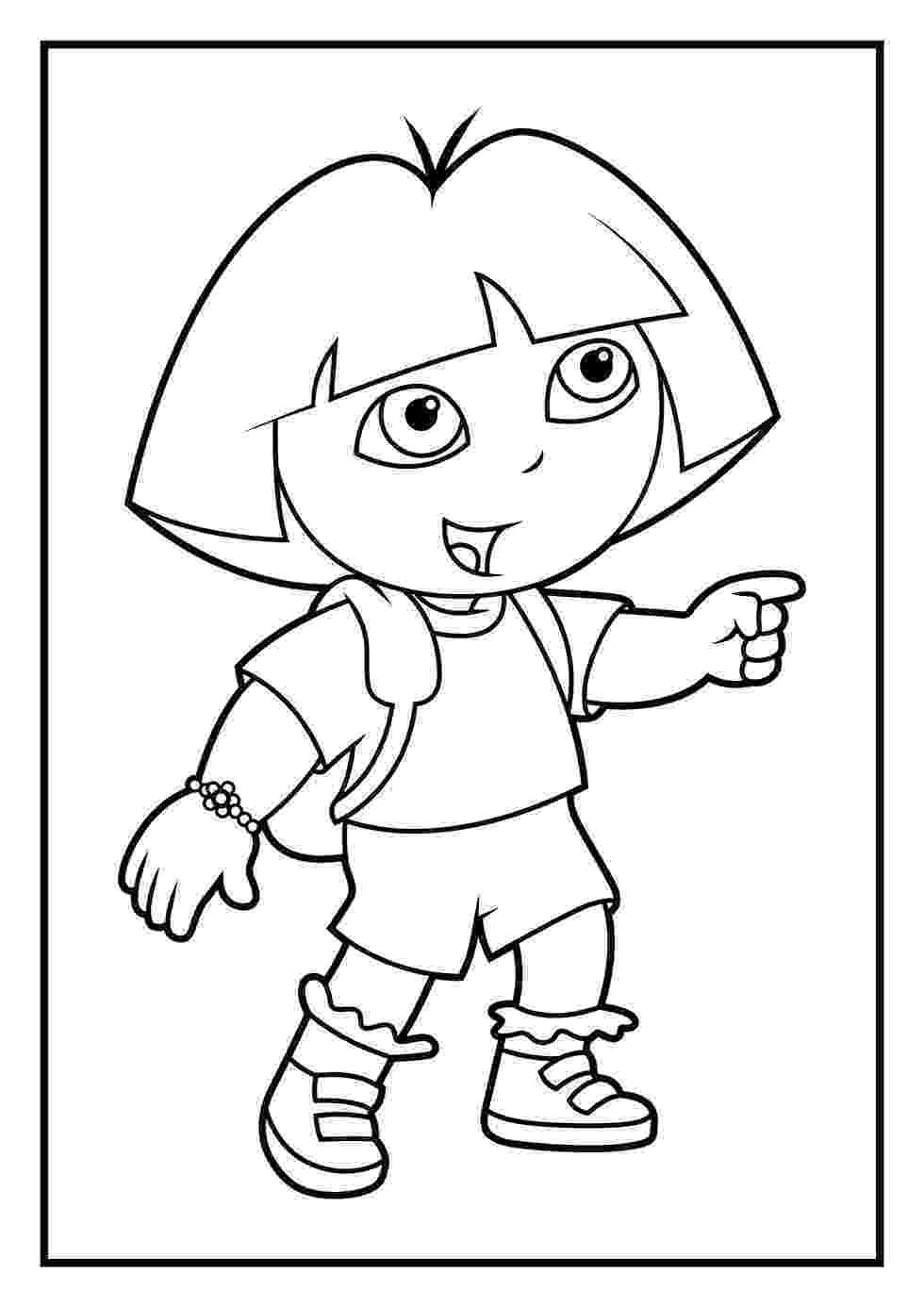 dora pics print download dora coloring pages to learn new things pics dora