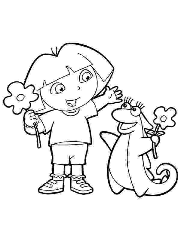 dora the explorer color dora and boots coloring pages to download and print for free the dora explorer color