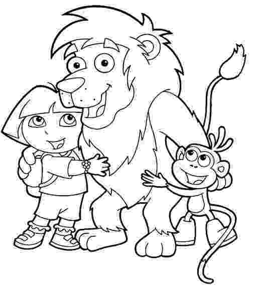 dora the explorer color free printable dora the explorer coloring pages for kids dora explorer color the