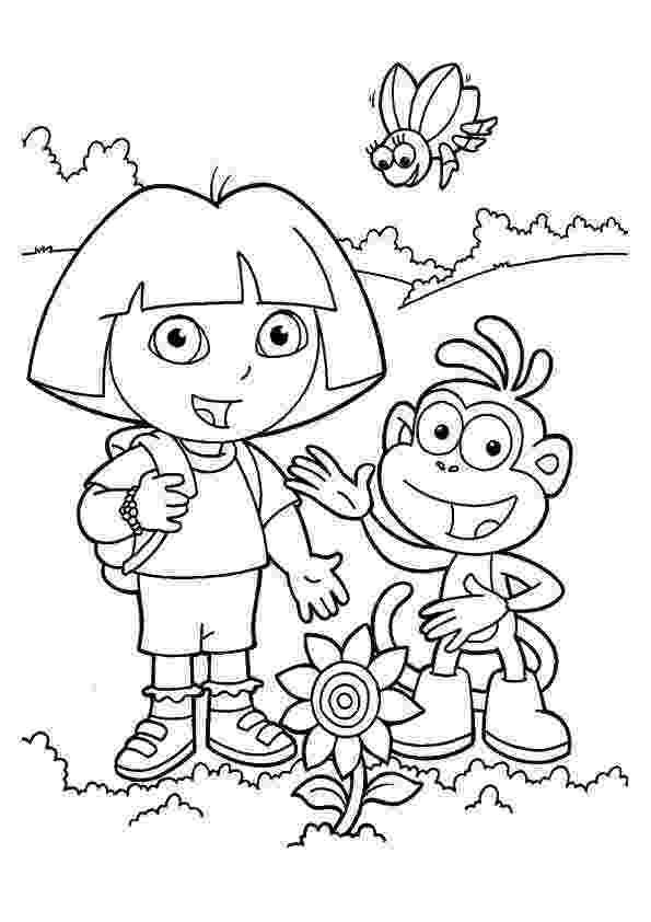 dora the explorer color free printable dora the explorer coloring pages for kids explorer color dora the