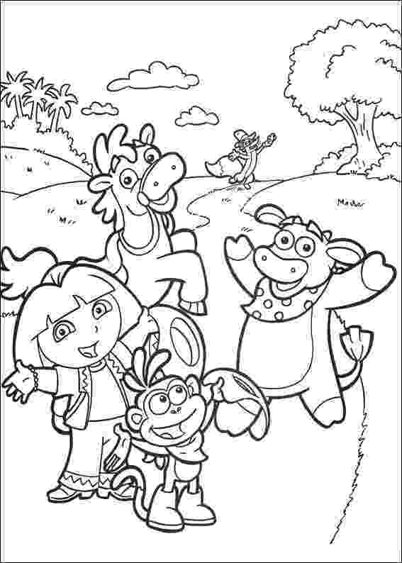 dora the explorer coloring pages free free printable dora coloring pages for kids cool2bkids explorer dora coloring pages free the