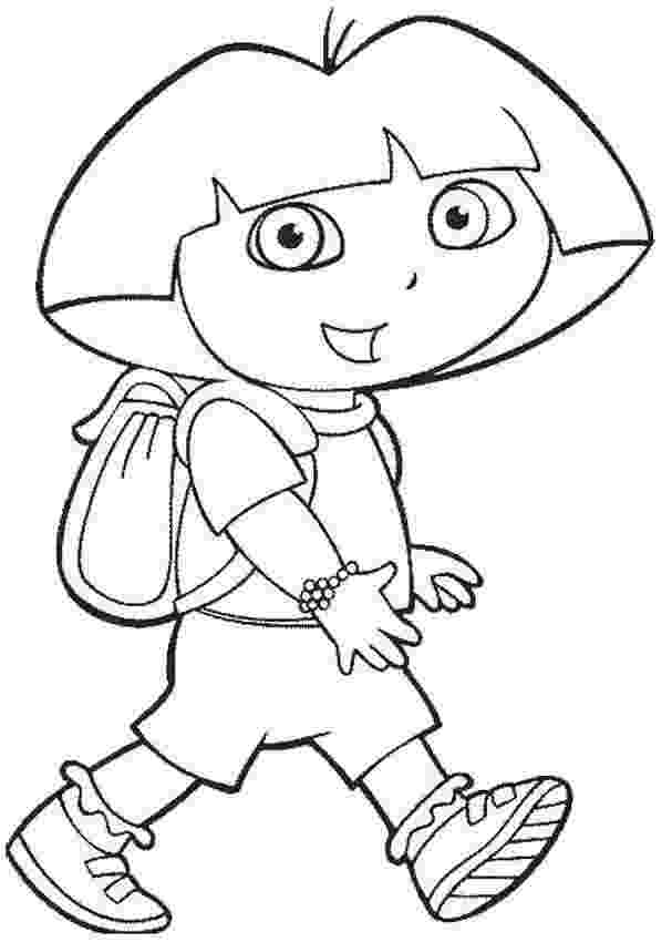 dora the explorer coloring pages free free printable dora the explorer coloring pages for kids dora pages explorer the coloring free