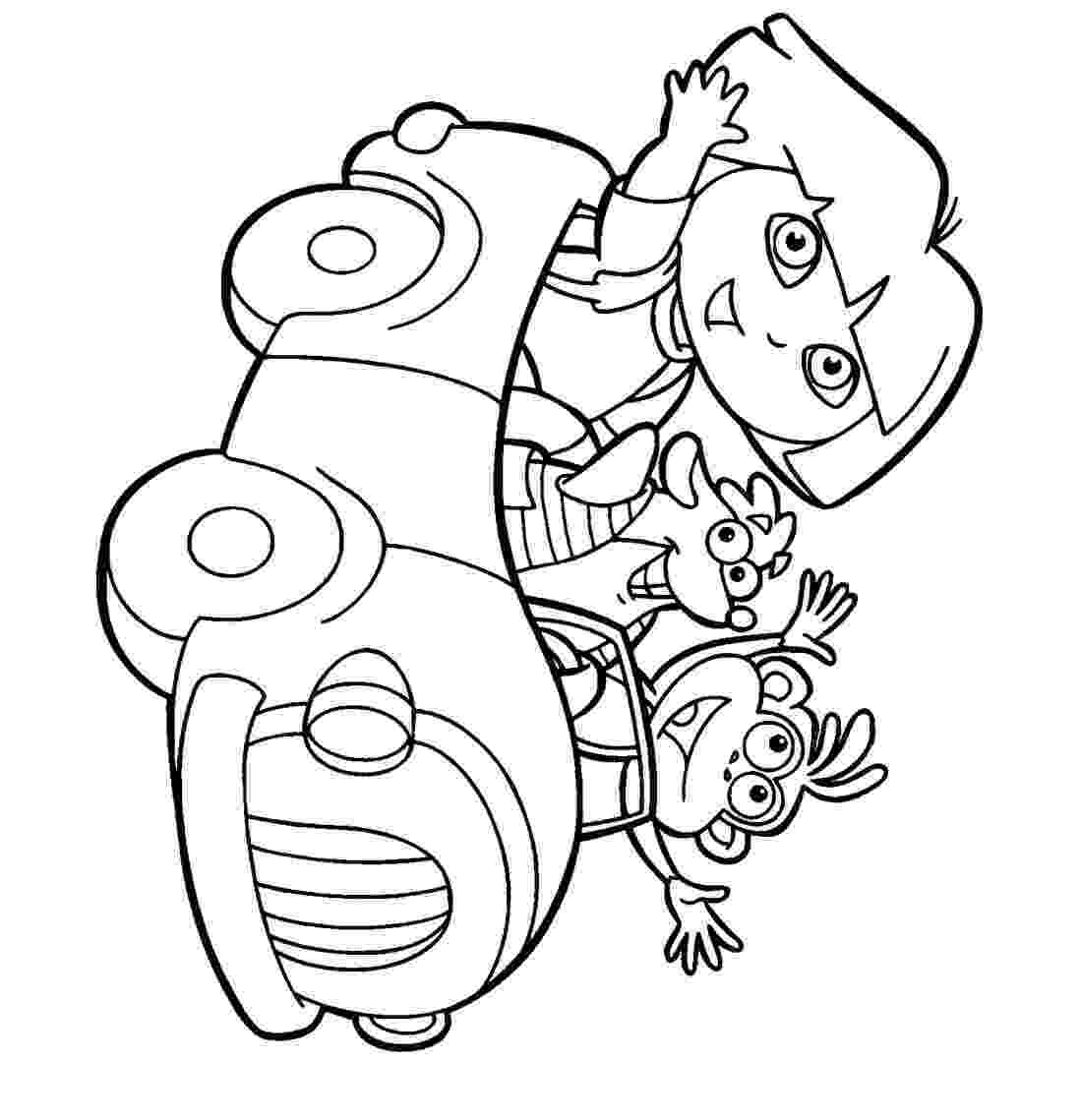 dora the explorer coloring pages free free printable dora the explorer coloring pages for kids dora the coloring explorer pages free