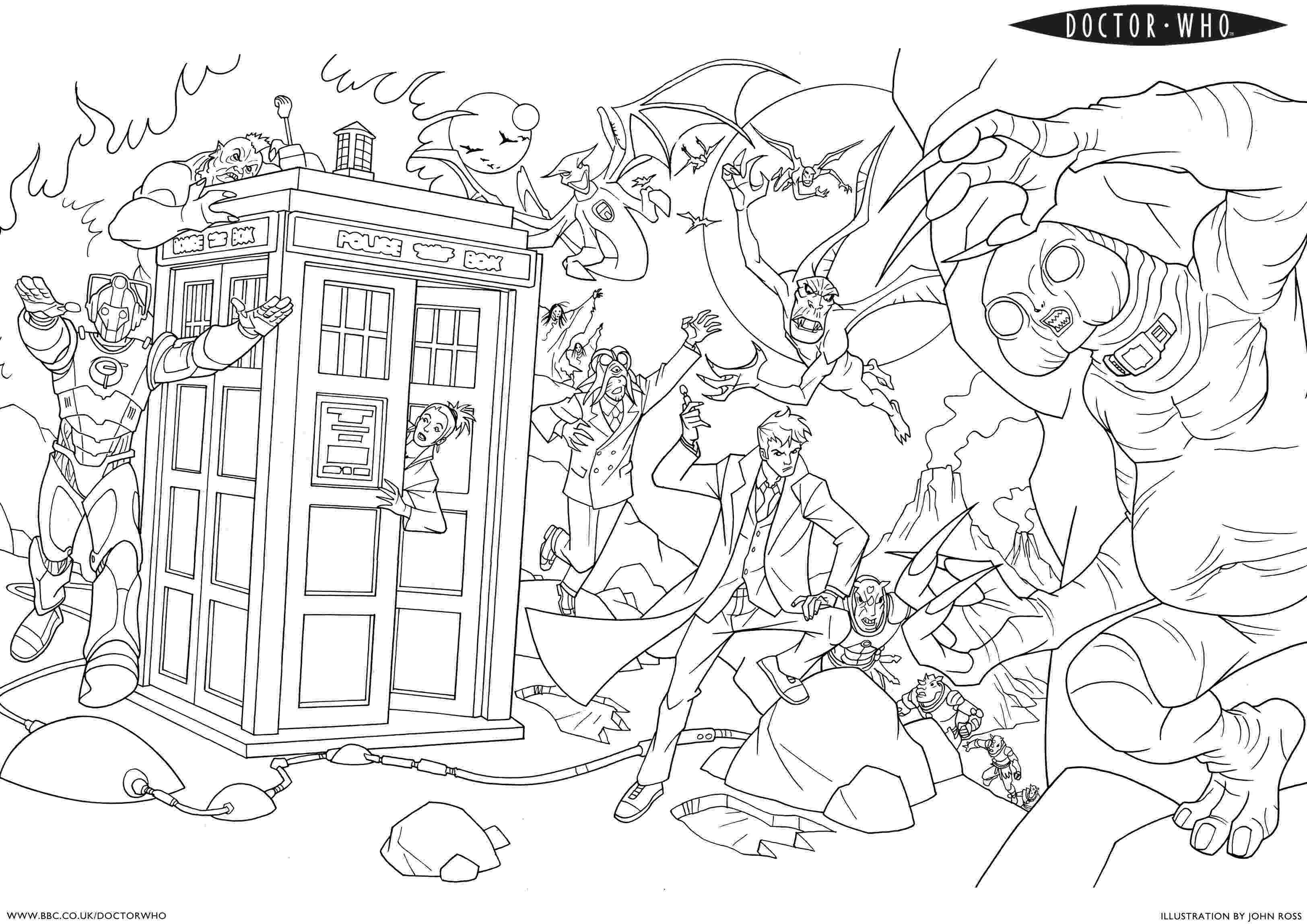 dr who pictures to colour 7 free doctor who fan art coloring books plus bonus to colour pictures who dr