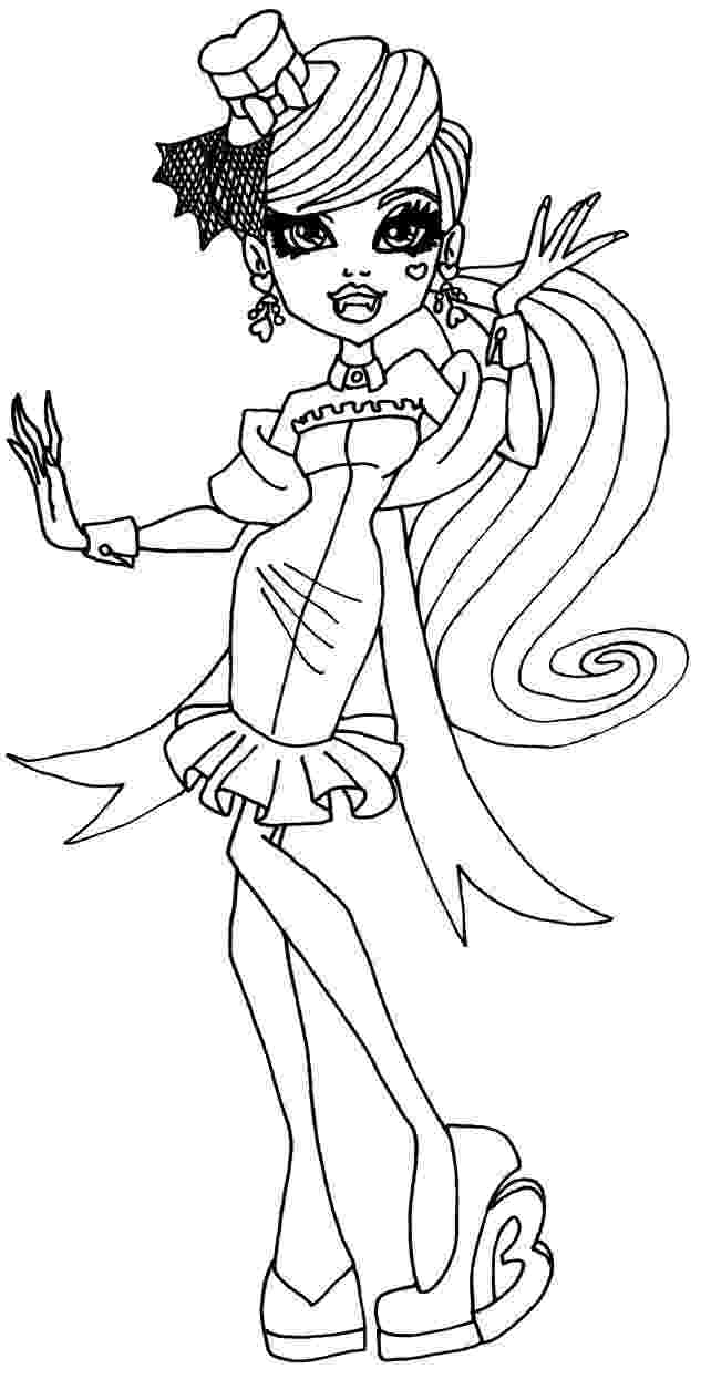 draculaura coloring pages draculaura bw by elfkena on deviantart pages coloring draculaura