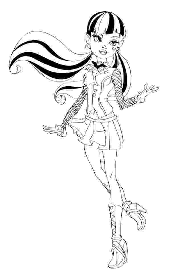 draculaura coloring pages monster high draculaura coloring pages getcoloringpagescom pages coloring draculaura