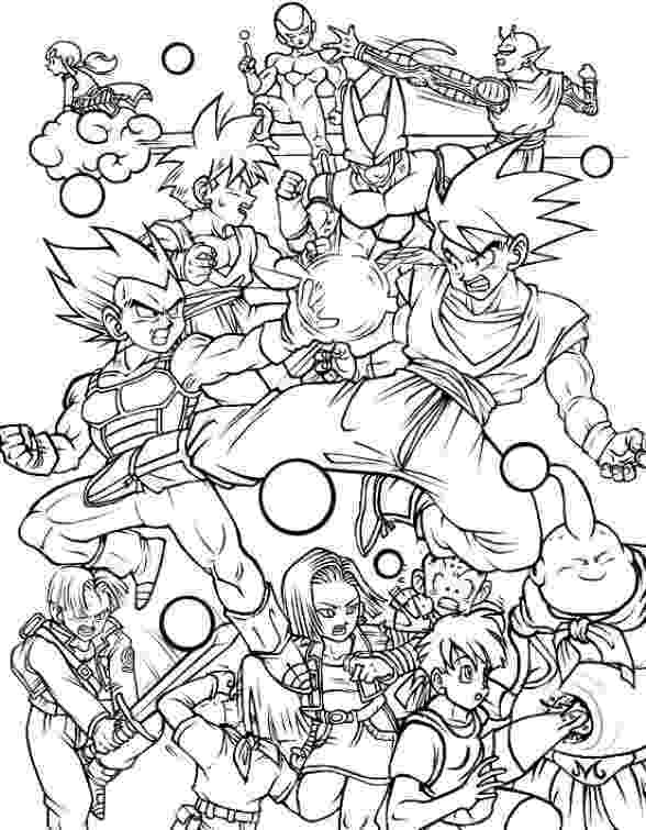 dragon ball z coloring page all characters in dragon ball z free printable coloring page coloring ball z dragon