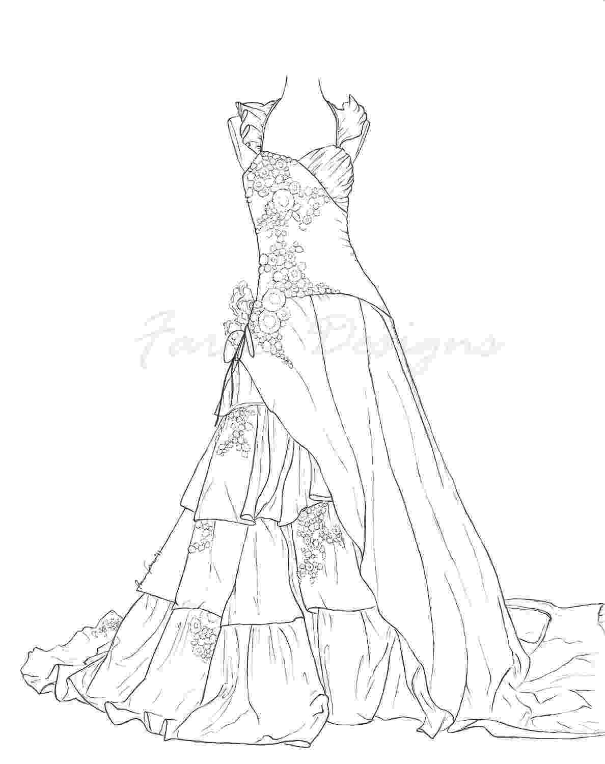 dresses coloring pages ball gown coloring page for girls printable free coloring pages dresses