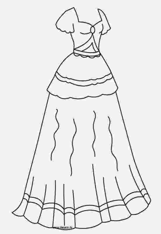 dresses coloring pages cute wedding dress coloring pages educative printable coloring pages dresses
