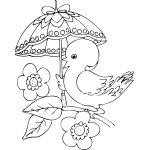 duck with umbrella duck with umbrella baby täcken umbrella with duck