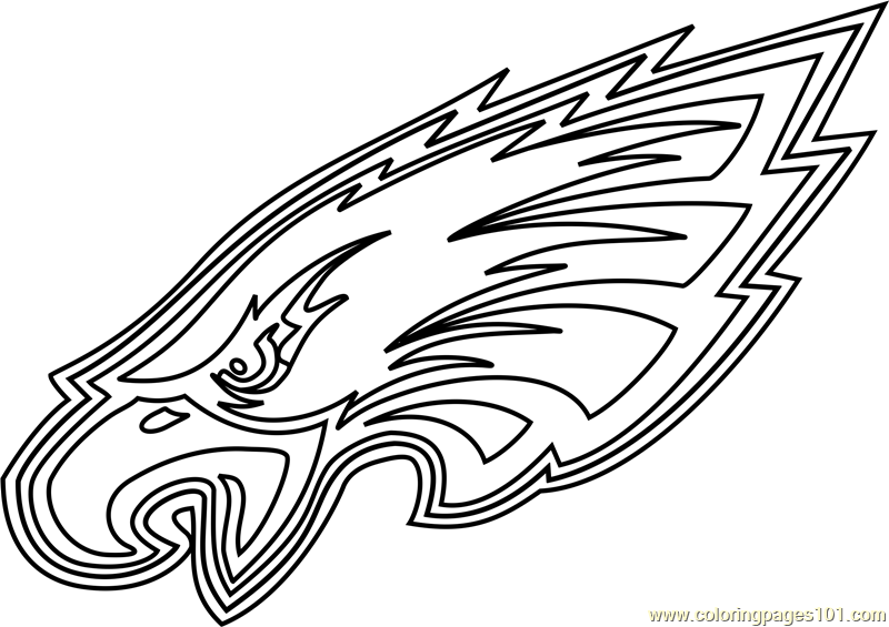 eagles football coloring pages philadelphia eagles logo coloring page free nfl coloring football eagles pages coloring
