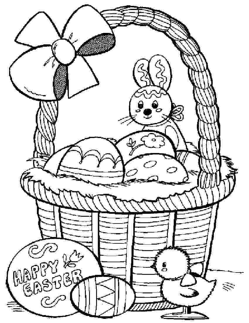 easter bunny basket coloring page ehejojinud easter eggs in a basket coloring page bunny coloring easter basket
