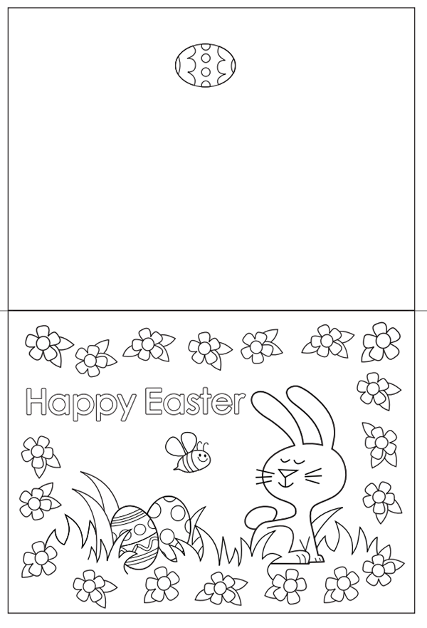 easter cards colouring happy easter card coloring page easter colouring cards