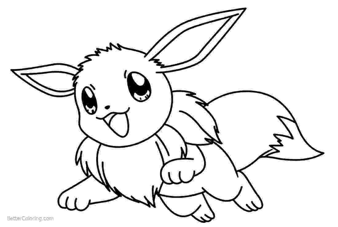 eevee coloring pages to print eevee pokemon coloring pages getcoloringpagescom print pages coloring to eevee