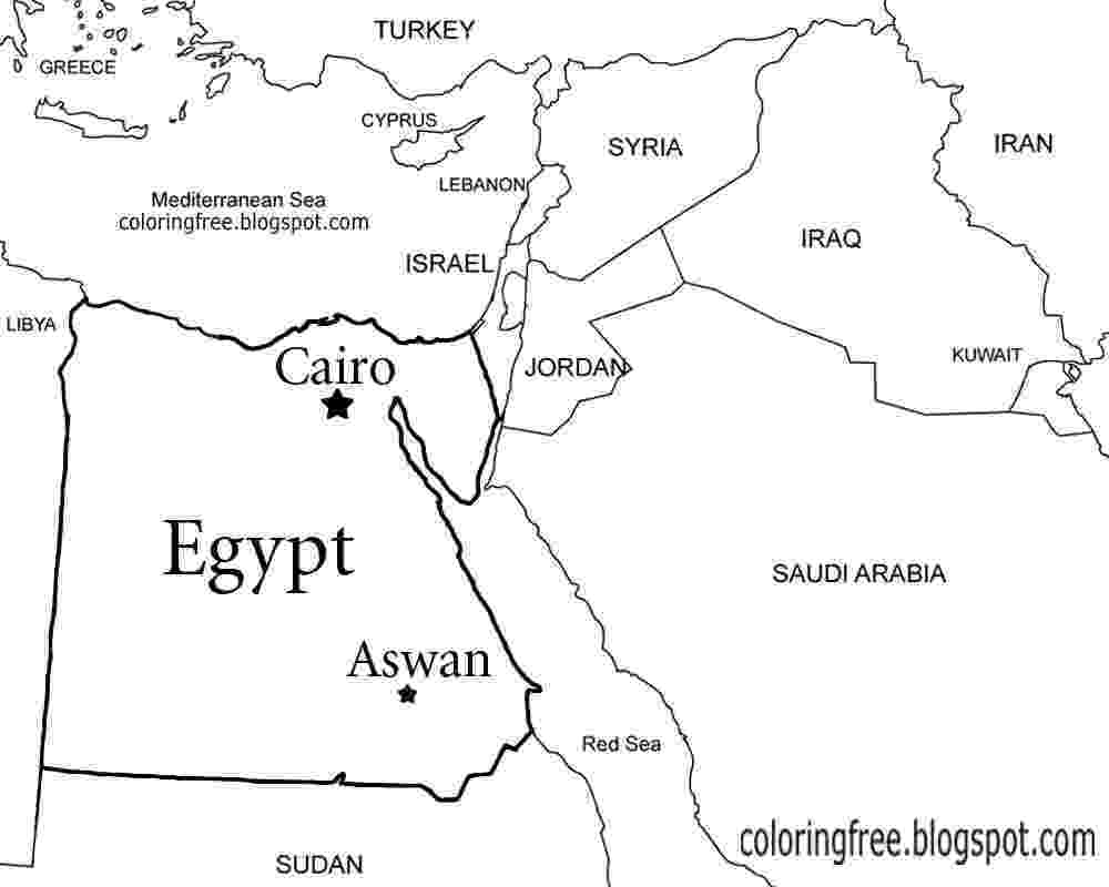 egypt coloring map egypt map coloring page map coloring egypt