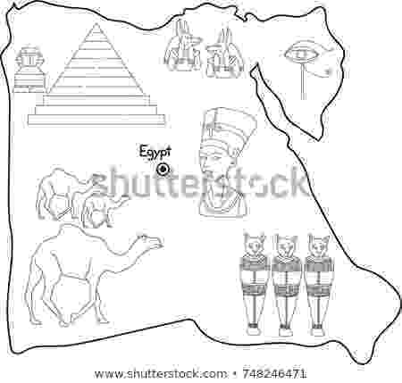 egypt coloring map egypt map outline egypt map map outline map tattoos coloring map egypt