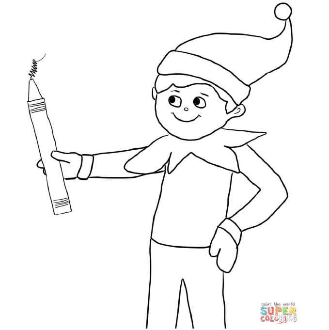 elf on shelf coloring pages elf on the shelf coloring pages getcoloringpagescom on coloring shelf elf pages