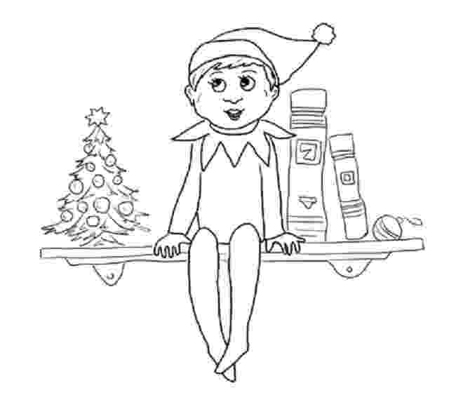 elf on shelf coloring pages free printable elf coloring pages for kids cool2bkids elf coloring shelf pages on