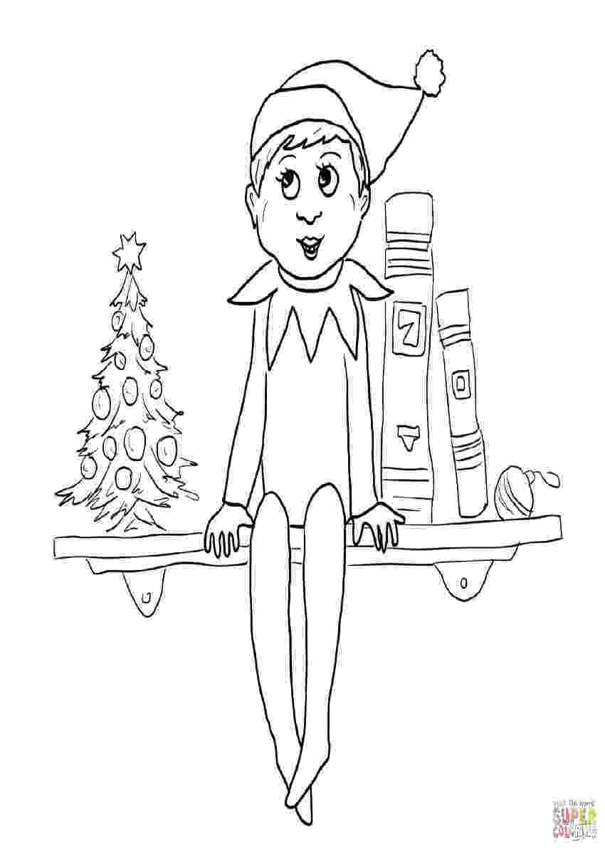 elf on shelf coloring pages free printable elf coloring pages for kids cool2bkids shelf elf pages coloring on