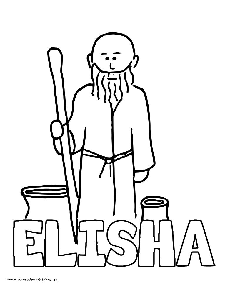 elisha coloring page elisha crafting the word of god elisha page coloring