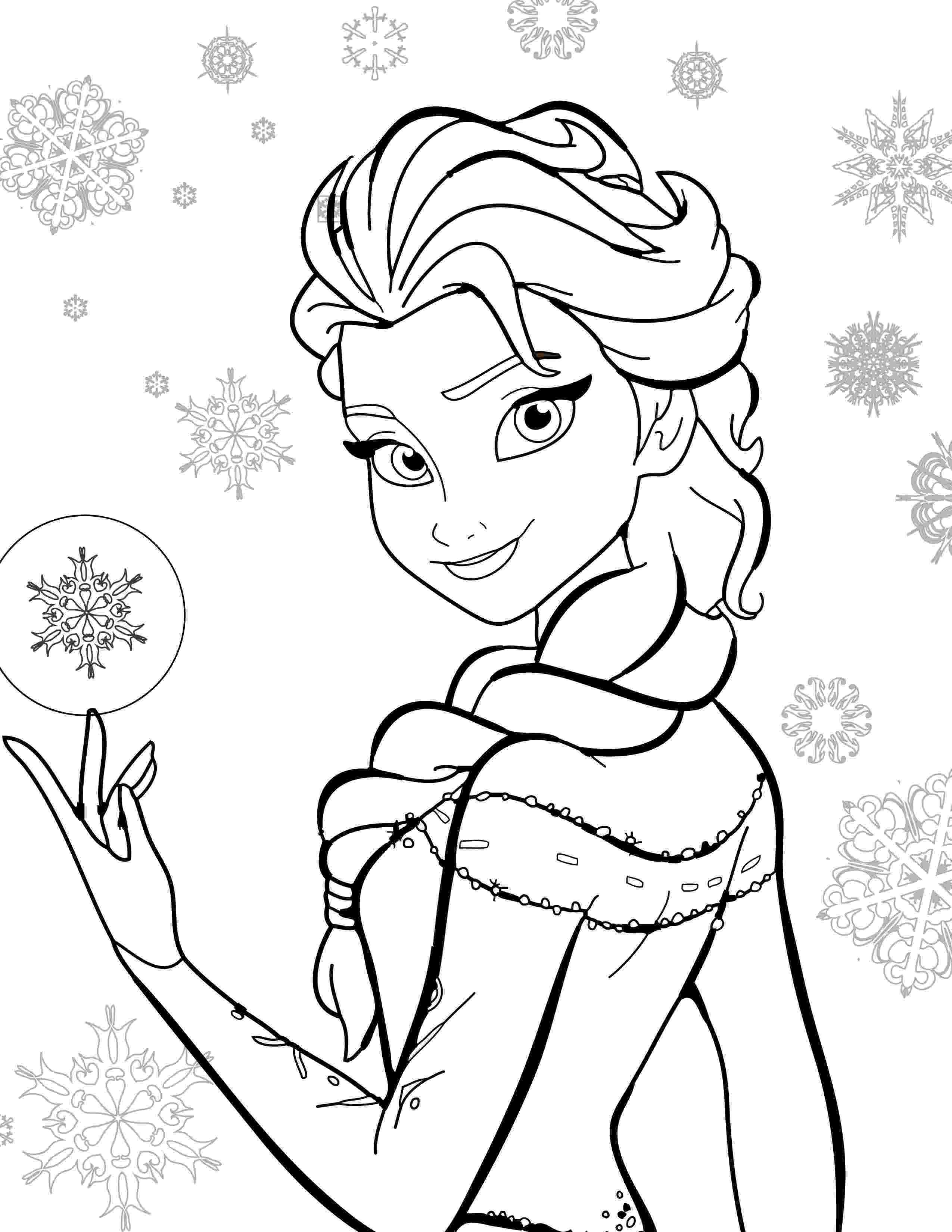 elsa coloring pictures disney princess elsa coloring pages coloring elsa pictures