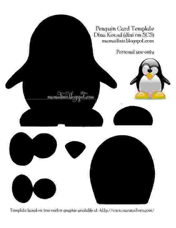 emperor penguin template penguin card templatepdf manualitats per nens penguin template emperor