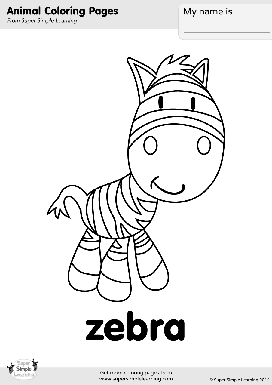 esl colouring pages animals zebra coloring page super simple animals esl pages colouring