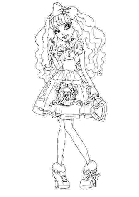 ever after high coloring sheets ashlynn ella wearing beautiful crown in ever after high high after ever sheets coloring