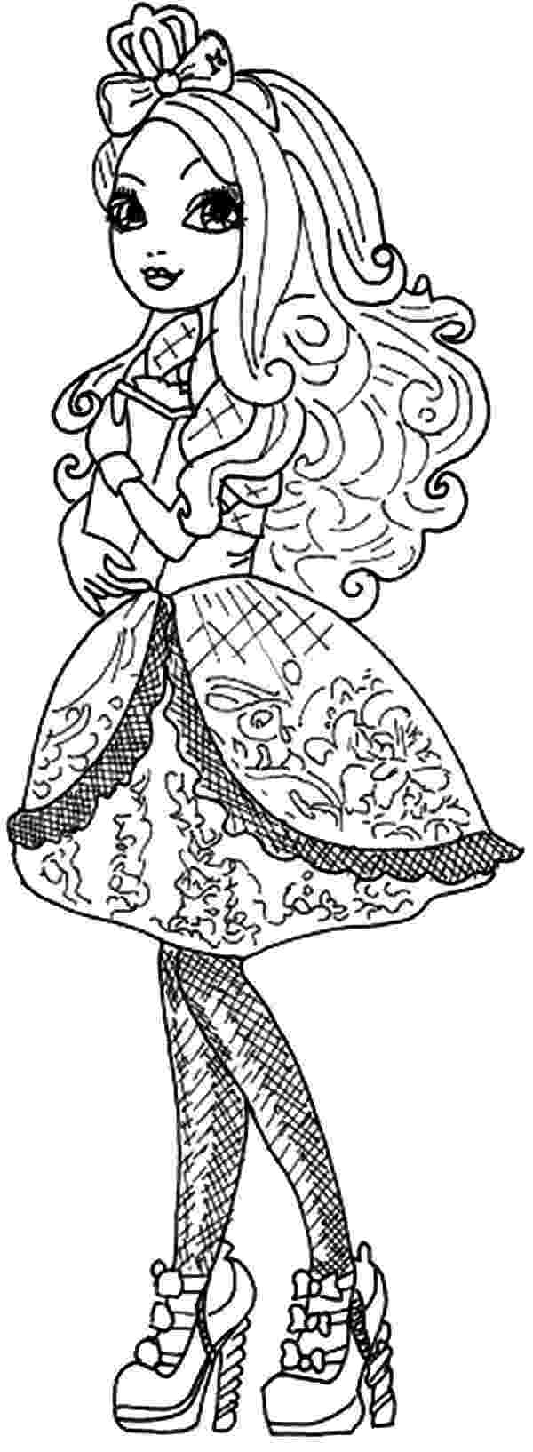 ever after high coloring sheets beautiful raven queen ever after high coloring pages sheets after ever high coloring