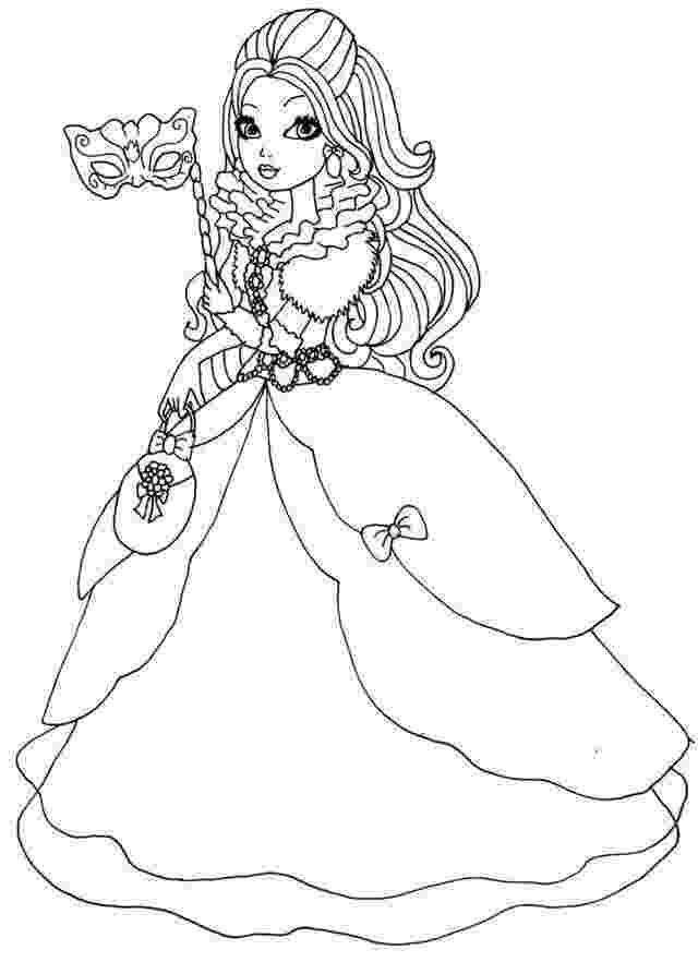 ever after high coloring sheets ever after high cupid ever after high coloring page free coloring ever after high sheets