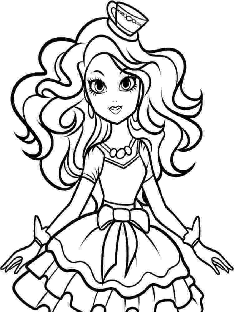 ever after high printables ever after high coloring pages madeline hatter shopping printables after high ever