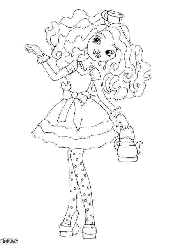 ever after high printables ever after high lizzie hearts coloring page free after printables high ever