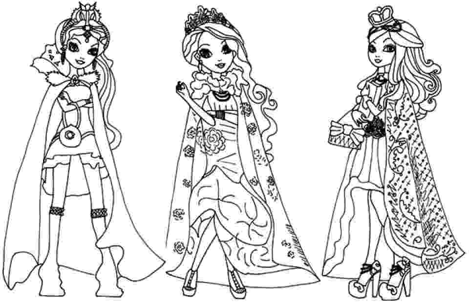 ever after high printables free printable ever after high coloring pages madeline printables after ever high