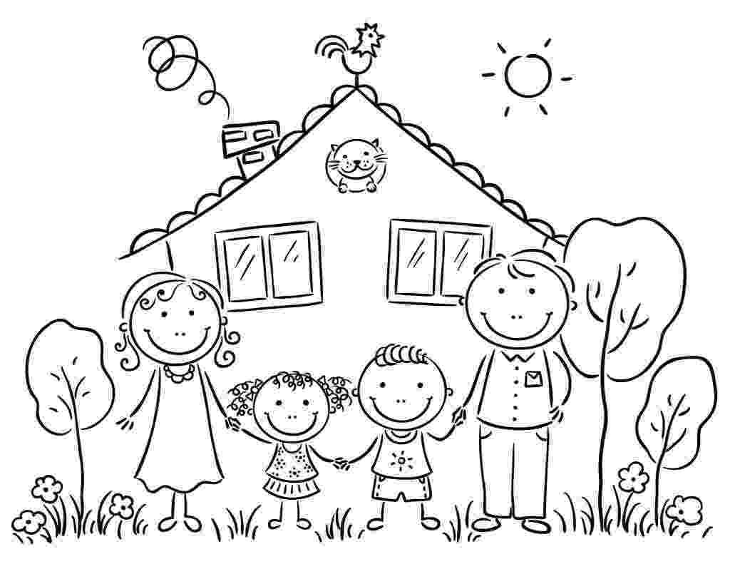 family coloring pages family coloring pages getcoloringpagescom family coloring pages
