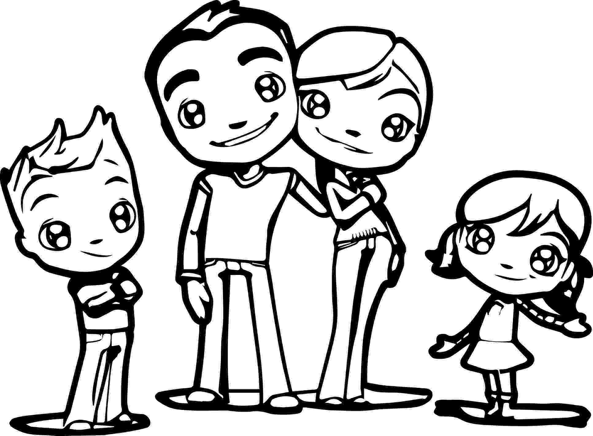 family coloring pages free printable happy family coloring pages for kids coloring family pages