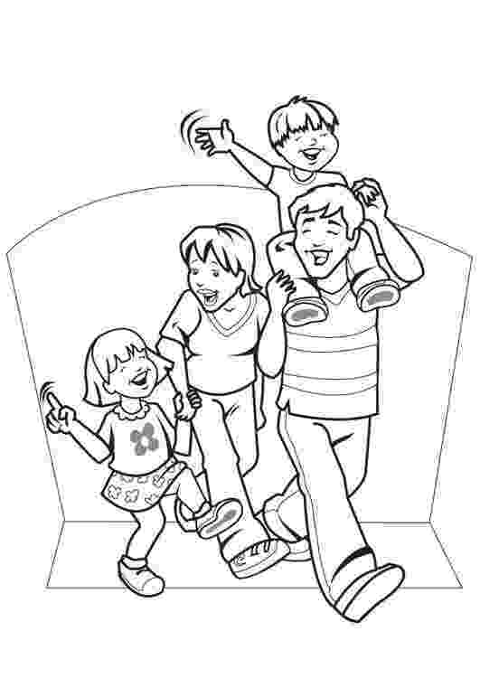 family coloring pages my family drawing at getdrawingscom free for personal coloring pages family