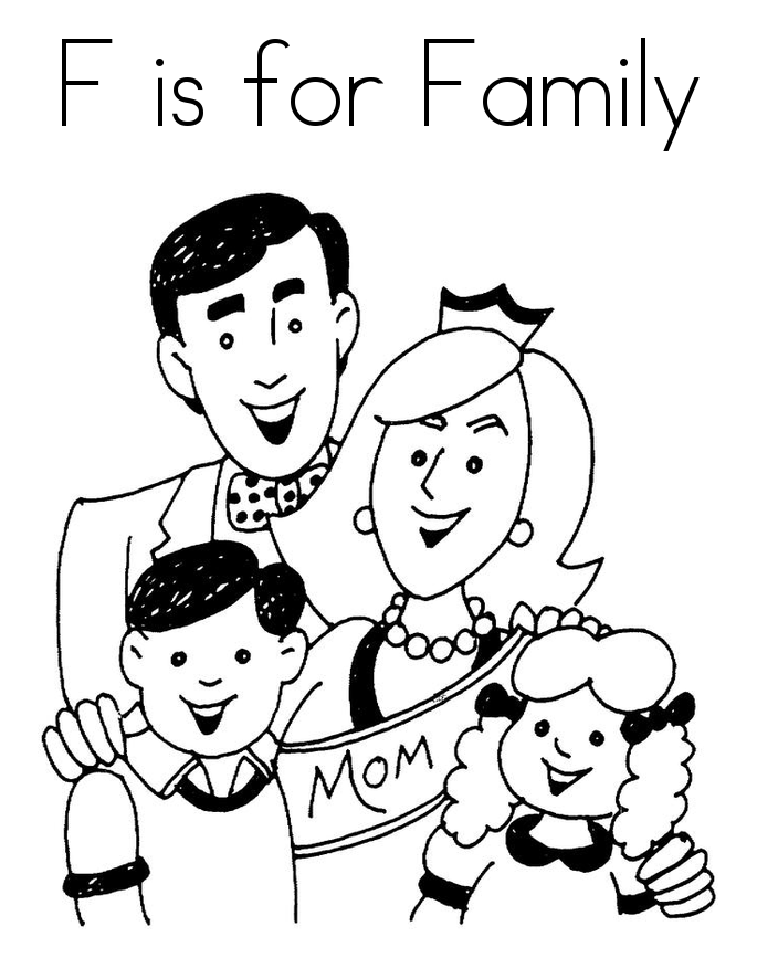 family coloring pages printable family coloring pages getcoloringpagescom coloring family printable pages